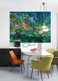 """""""Utopia"""" Abstract Murals That Stick by Melissa Loop for GreenBox Art + Culture $189"""