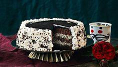 Salmiakki-lakukakku - K-ruoka Frozen Party, Piece Of Cakes, Yams, Butter Dish, Liquor, Halloween Party, Sweet Tooth, Deserts, Tasty
