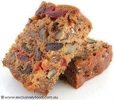 Fruit cakes --- Yields about 36 pieces by by We recommend making this cake at least a few days before serving as the flavour and texture . Fruit Recipes, Sweet Recipes, Baking Recipes, Cake Recipes, Easy Fruit Cake Recipe, Recipies, Bread Recipes, Easy Cake Decorating, Cake Decorating Supplies