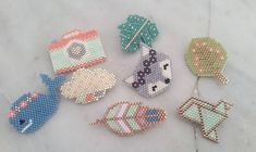 These are definitely beadiful creations! Hama Beads Design, Diy Perler Beads, Perler Bead Designs, Perler Bead Art, Melty Bead Patterns, Hama Beads Patterns, Beading Patterns, Miyuki Beads, Fuse Beads