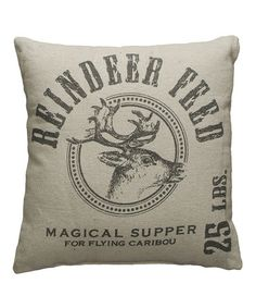 This 'Reindeer Feed' Throw Pillow is perfect! #zulilyfinds