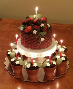 Chocolate Strawberry Basket Cake