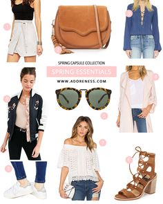 Buying for a new season should be fun not overwhelming. Here are the 9 key items you should add to your capsule wardrobe for spring : suede skirt, saddle ..
