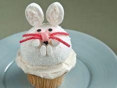 """Snow Bunny Cupcake"", Total Time: 27 min, Prep 15 min, Inactive 12 min, Yield: 1 cupcake, Level: Easy | Take a Quick Break"