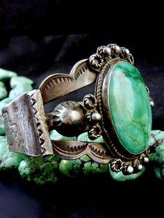 45g Fred Harvey Era Vintage Old Pawn Navajo Sterling Silver #vintagesterlingsilverjewelry