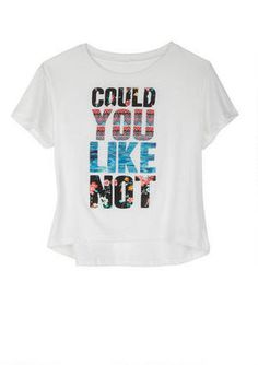 www.store.deliahs.com 'Could You Like Not' Graphic Tee