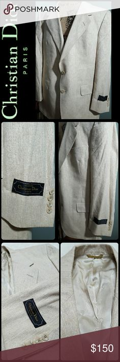 Christian Dior Men's Silk Blazer Coat New Christian Dior Designer Blazer, 100% Silk,  Fully Lined Interior in Classic Dior Logo Print,  Tags Still Intact - Shows Versailles 801 42 Short, Union Made in USA, Perfect Match to Any Outfit! A Rare Dior Find! Dior Suits & Blazers Sport Coats & Blazers