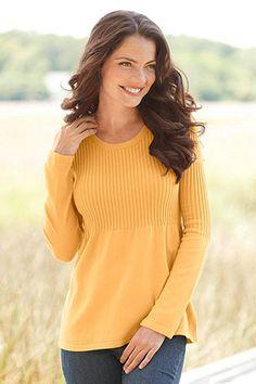 Ribbed Babydoll Sweater