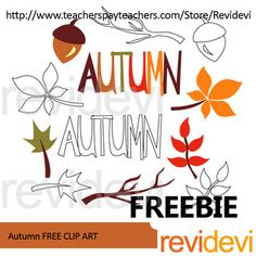 Fall clip art free set. This freebie pack features autumn text, leaves, and branch. Free resource for teachers pay teachers authors and sellers.YOUR RATING and COMMENT is highly appreciated.If you like this set, please SHARE this post, or PIN on your boards.Get more similar autumn theme freebies hereLink-tAutumn fall season clip art freeLink-Thanksgiving free resourceThe collection is suitable for school and classroom projects such as for bulletin board, learning printable, study worksheet…