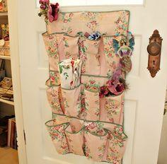 So vintage love it Romantic Cottage, Shabby Chic Cottage, Shabby Chic Decor, Shabby Chic Lighting, Craft Room Storage, Craft Rooms, Storage Ideas, Room Organization, Pink Laundry Rooms