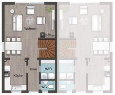 doppelhaus modern grundriss