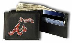 Atlanta Braves Embroidered Leather Trifold Wallet by Rico. $24.99. A perfect gift for yourself or your favorite sports fan! The team's logo is embroidered onto the front of the wallet. The wallet is made of genuine leather and will last for years! Inside you'll find a compartment for cash, 6 slots for cards, a slot for your drivers license, 3 inner compartments, and a removable plastic 4 sleeve picture and ID holder.. Save 29% Off!