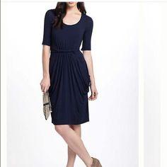 Beautiful Navy Anthropologie Chignon Dress