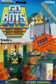 "gobots treds | GoBots ""Treds"" Transforming Robot (Tonka) *SOLD*"