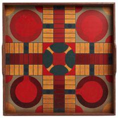 Folk Art Gameboard - Parchesse Circles