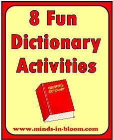 Minds in Bloom: 8 Fun Dictionary Activities Library Lesson Plans, Library Skills, Library Lessons, Reading Skills, Teaching Reading, Library Ideas, Teaching Tools, Teaching Kids, Reading Strategies