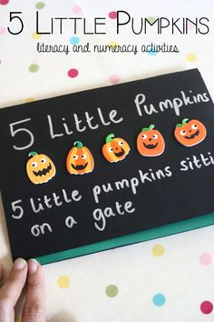 Five Little Pumpkin Literacy and Numeracy Activities
