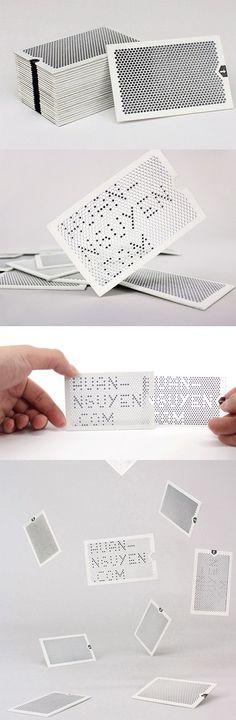 Clever Interactive Laser Cut Business Card Reveals A Hidden Message