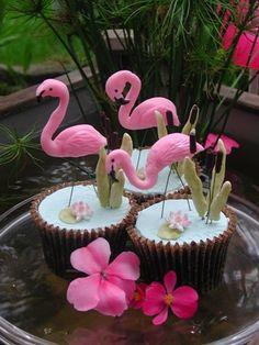For Wonderbunny ~ Flamingo cupcakes