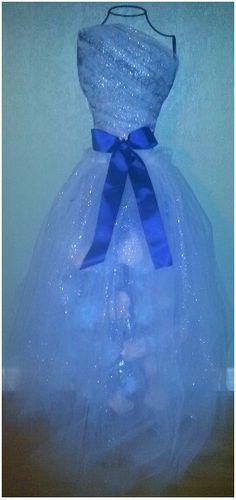 Cotton candy wedding dress