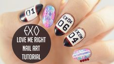 EXO Love Me Right Nail Art Tutorial