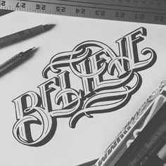 Some word art. 💡make some shadows to get that look 💡good pic to give the clients the evaluation Tattoo Lettering Styles, Hand Lettering Quotes, Types Of Lettering, Graffiti Lettering, Cool Typography, Creative Lettering, Lettering Design, Calligraphy Letters, Typography Letters