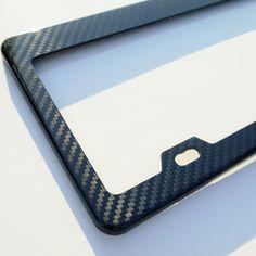 Amazon.com: Authentic New Black Carbon Fiber Universal Fit License Plate Frame: Automotive