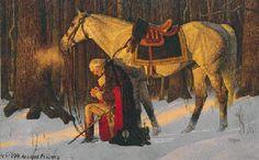Washington at Valley Forge - Arnold Friberg