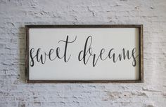sweet dreams wood sign. rustic sign. farmhouse decor. farmhouse signs. wooden signs. rustic decor. nursery decor. rustic nursery. baby gift by WilliamRaeDesigns on Etsy https://www.etsy.com/listing/456564294/sweet-dreams-wood-sign-rustic-sign