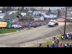 World Record Semi-Truck Jump.   http://www.gearheads4life.com/features/world-record-semi-truck-jump/
