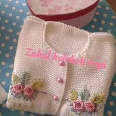 Discover thousands of images about Elif öndeş Crochet For Kids, Crochet Baby, Knit Crochet, Girls Sweaters, Baby Sweaters, Knitting Socks, Baby Knitting, Baby Fabric, Brazilian Embroidery