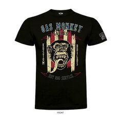 T-shirt motard GAS MONKEY GARAGE GMG HOT ROD SERVICE black | T-shirt