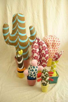 Stuffed Toy Cacti Are a Safe Slumber Buddy #DIY trendhunter.com