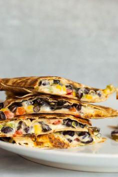 Vegan Quesadillas with Homemade Cheese - The Vegan 8 Mexican Food Recipes, Whole Food Recipes, Vegan Recipes, Vegan Food, Vegetarian Mexican, Beef Recipes, Plant Based Whole Foods, Plant Based Recipes, Vegan Quesadilla