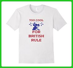 Mens Too Cool For British Rule Funny History 4th of July Tshirt Large White - Holiday and seasonal shirts (*Amazon Partner-Link)