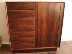 Beautiful Vintage Dyrlund Smith Rosewood Tambor by marketsquareus
