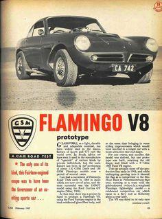 GSM Flamingo V8 - CARmag.co.za V8 Cars, Car Magazine, Vintage Cars, Flamingo, South Africa, Classic Cars, Motors, Ford, Trucks