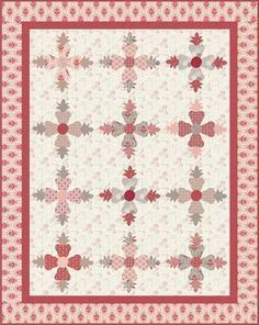 Beaujolais Roses Lazer Cut Quilt Kit