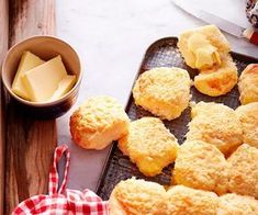 MUM'S CHEESE SCONES Cheese scones just like Mum makes! Wonderfully light and fluffy, this cheese scone recipe is fantastic served for morning or afternoon tea slathered with plenty of butter Perfect Scones Recipe, Baking Recipes, Snack Recipes, Cheese Scones, Cinnamon Muffins, Good Food, Yummy Food, Savoury Baking, Greek Recipes