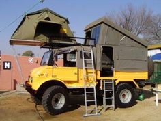 Unimog camper.. i don't want this but the design that went into this is outstanding!