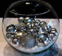 Simple new years eve centerpieces that will rock the clock. Simple new years eve centerpieces that will rock the clock. Winter Table Centerpieces, Christmas Centerpieces, Decoration Table, Wedding Centerpieces, Christmas Decorations, Silver Centerpiece, Christmas Tables, Centerpiece Decorations, Wedding Decoration