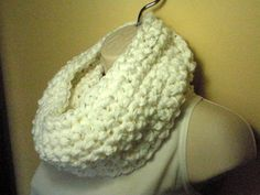 White+Winter+Cowl+Infinity+Circle+Scarf+by+madebymandy35+on+Etsy,+$25.00