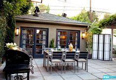love the concrete pavers with gravel or dg between--eco + low cost  Interior Therapy with Jeff Lewis Season 1 - Before and After: Ross and Sal - Photo Gallery - Bravo TV Official Site#image-118638