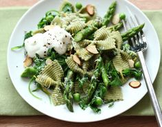 Spring greens Asparagus and Ricotta Pasta