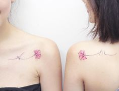 Matching poppies with initial stems by Mini Lau