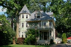 "A dollhouse-like home in Glen Ridge. One of the town's many ""Painted Lady"" Victorians."