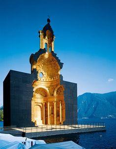 Mario Botta -Life-sized Wooden Model of Borromini's Church of San Carlo alle Quattro Fontane in Rome, on the lakeshore Lugano, Switze...