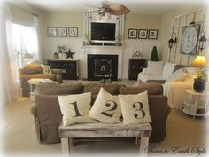 28 Best Charming Country Living Room Ideas Images