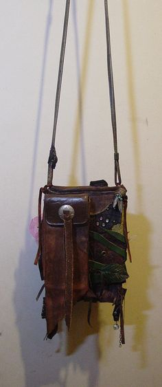 Earthy Android , iPhone Cell Phone Case Medicine Pouch, Hippie Shabby Chic Leather, 85 Dollars, Ships Free avail