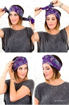 The most stylish scarf binding models - Head Wraps Hair Scarf Styles, Curly Hair Styles, Natural Hair Styles, Turbans, Headscarves, Turban Mode, Corte Y Color, Headband Hairstyles, Scarf Hairstyles Short